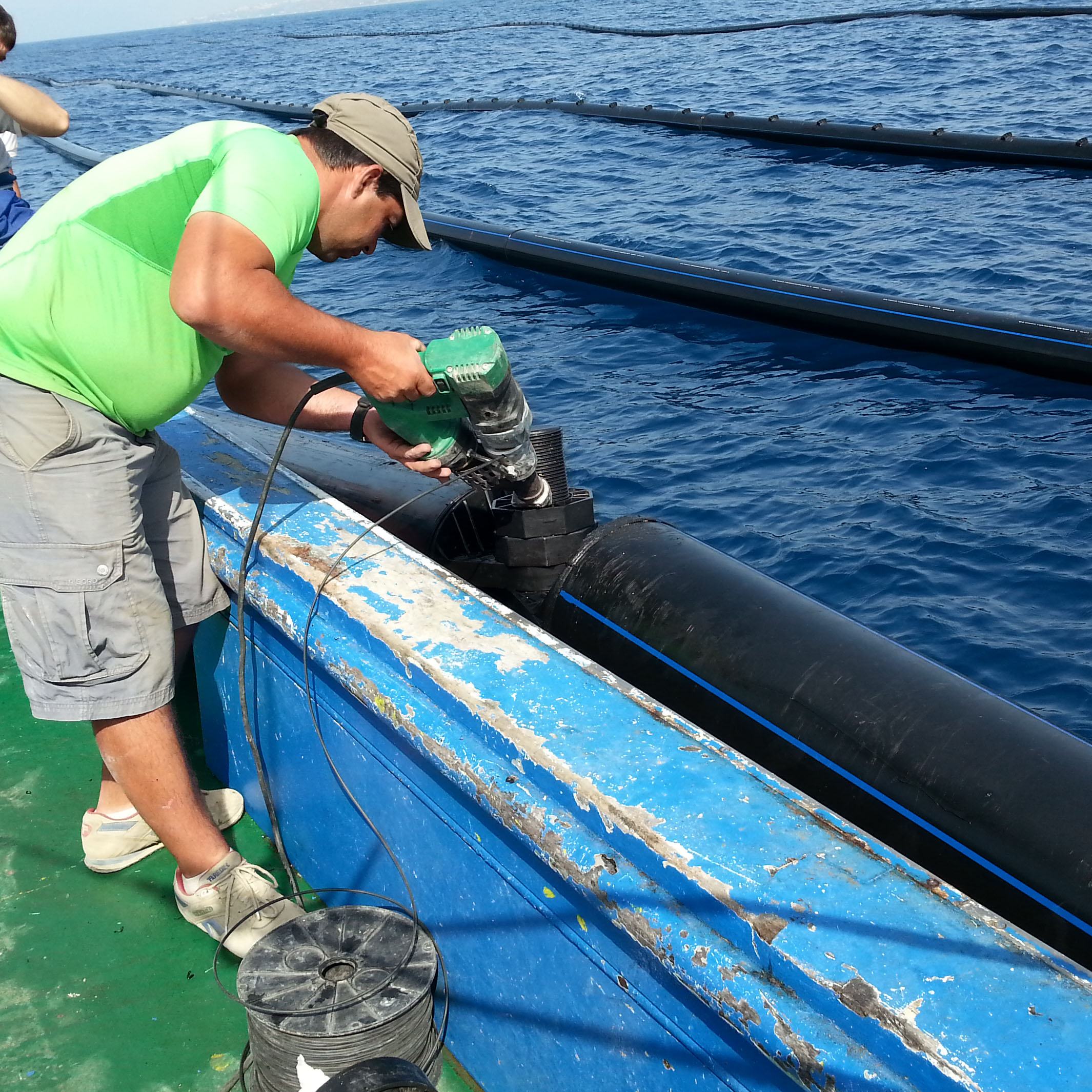 Soldadura de plastico en mar