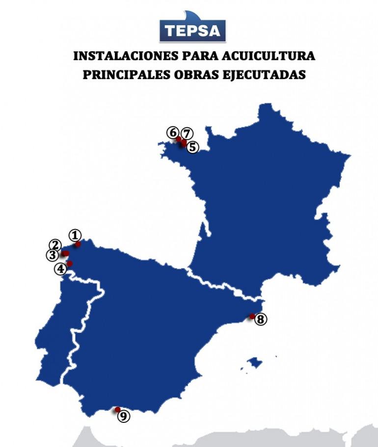 Mapa instalaciones flotantes TEPSA