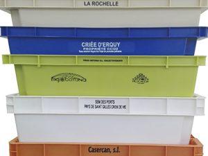 marcacion de texto en cajas de plastico