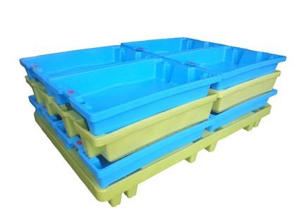 Crates picking on 80×120 cm pallet