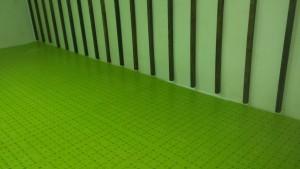 Non-slip plastic flooring