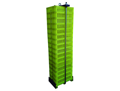 Oyster farming system with perforated plastic crates