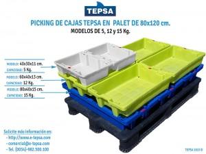 Nueva caja de plástico reutilizable para 5 kg de pescado