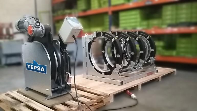 Maquina de soldar tubos de plastico