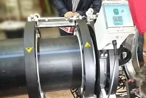 Soldadura de tubos plasticos de gran diametro