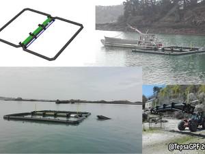 Instalación flotante modular para cultivo de algas