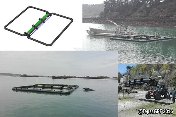 Estructura flotante para cultivo de algas