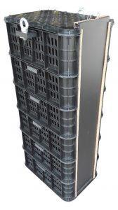 conjunto de cajas perforadas para acuicultura, jaula de erizo