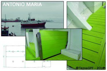 Modernización de bodega de pesca: suelos y divisiones