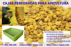 cajas para recogida, transporte y secado de polen de abeja
