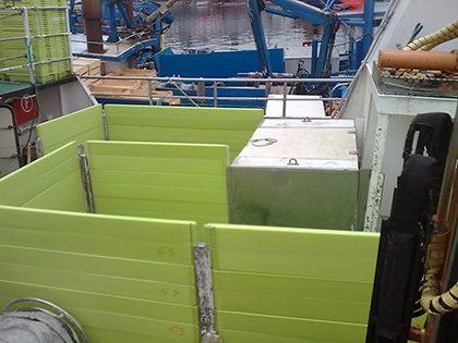 Cajonada con tablas verdes