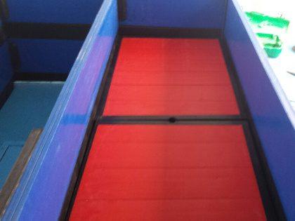 Cajon de cubierta con divisiones horizontales