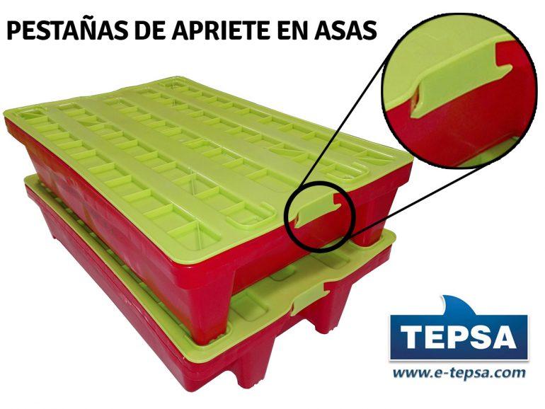 CAJAS DE PLASTICO CON TAPA