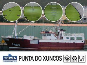 PUNTA DO XUNCOS (Burela) equipado con suelo sintético de uso alimentario