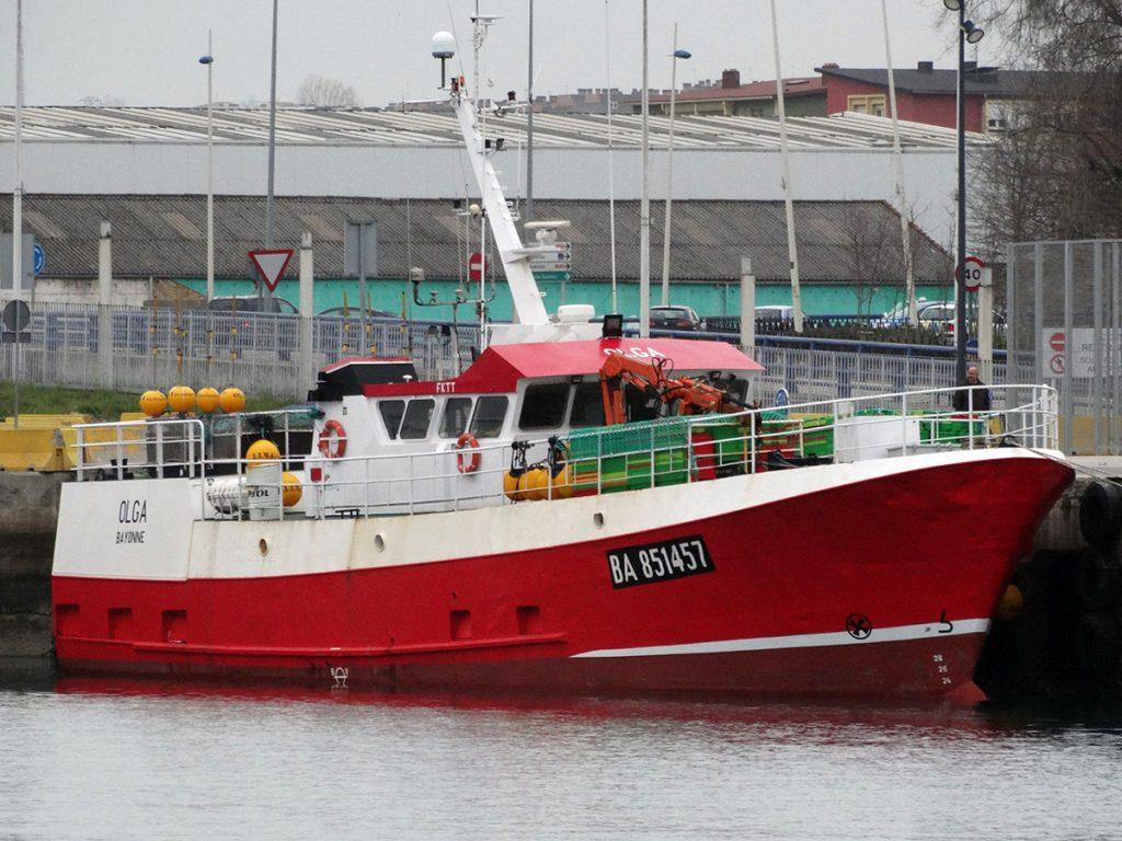 Vista exterior del buque OLGA