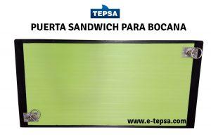 Puerta sandwich para bocana de barco de pesca