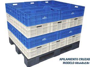 Caja perforada para congelacion y fruta