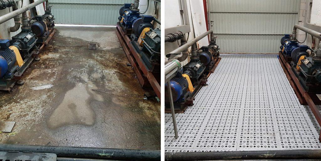 suelo para sitios humedos