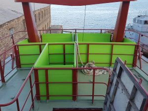 Carpintería naval en buque Beothuk