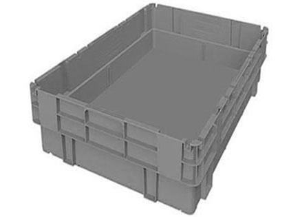 Caja de plastico eurobox gris sin asas