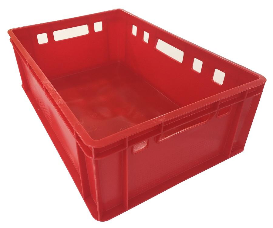 Caja roja tipo E2 para carne