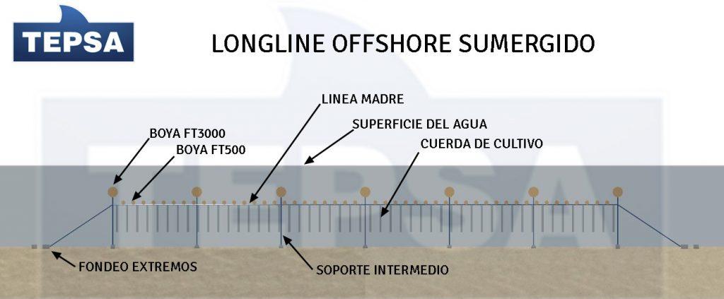 Infografia longline offshore para cultivo de mejillon