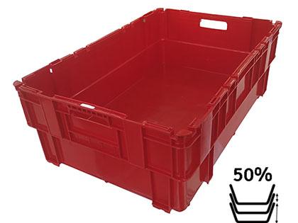 Caja E2 lisa encajable 50%