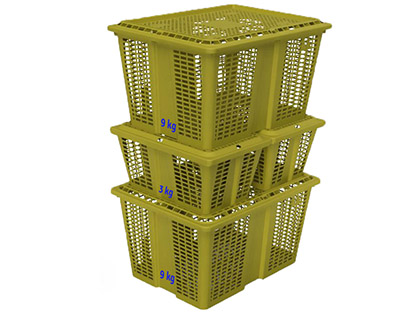 3 and 9 kg crates