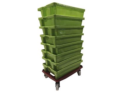 Carro para cajas de pescado